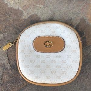 Gucci vintage monogram zippered pouch